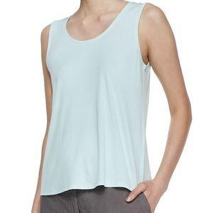 Eileen Fisher 100% Silk Sky Blue Silk Cami